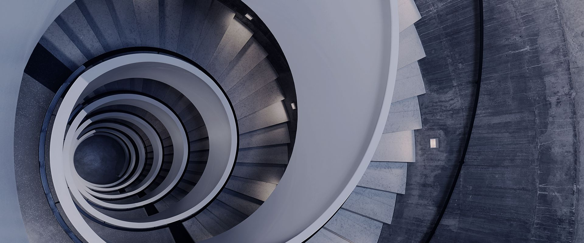Nya Arkitekturskolans trappa ovanifrån