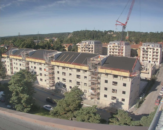 Webkameravy över kvarter Fridhem i Trollhättan