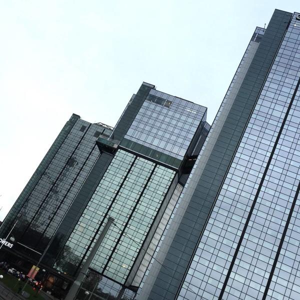 Gothia Towers från andra sidan gatan