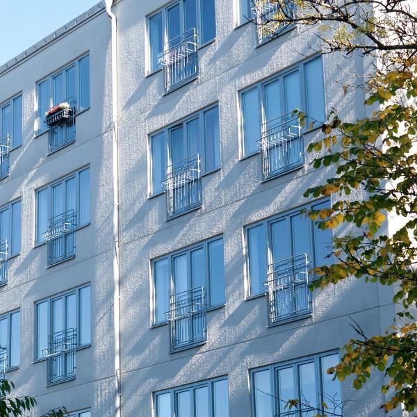 Kvarter Kandidaten i Uppsala, fasad