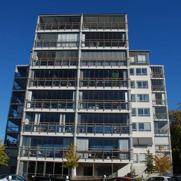Kvarter Majbaggen i Borås framifrån