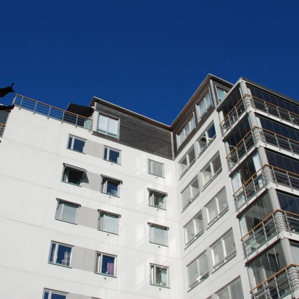 Kvarter Majbaggen i Borås, fasad