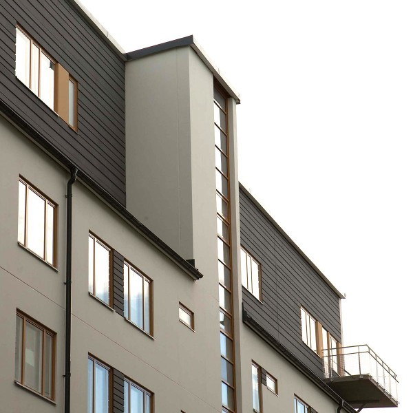 Kvarter Sjövik i Stockholm, fasad