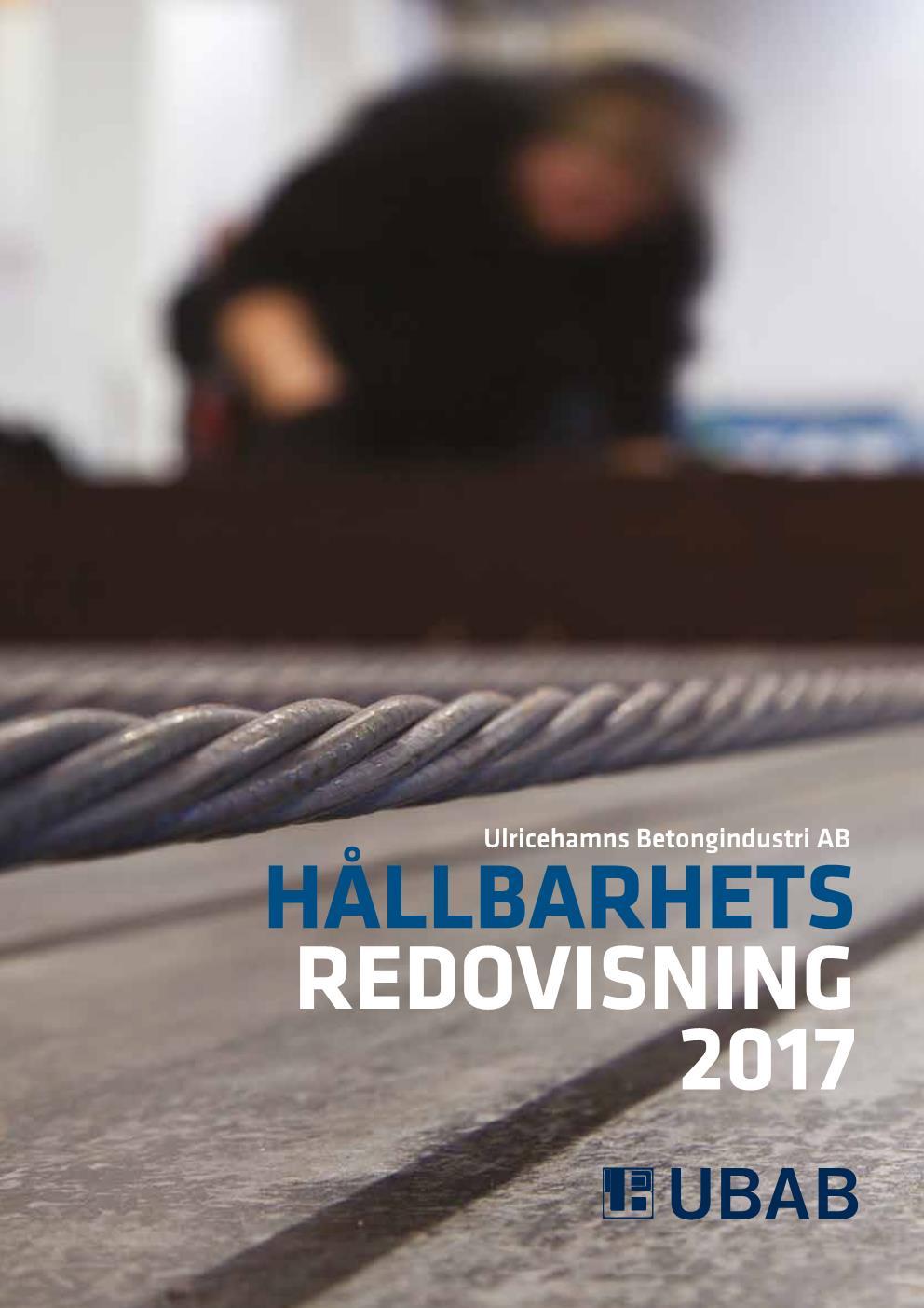 UBAB Hållbarhetsredovisning 2018_webres Sida 001