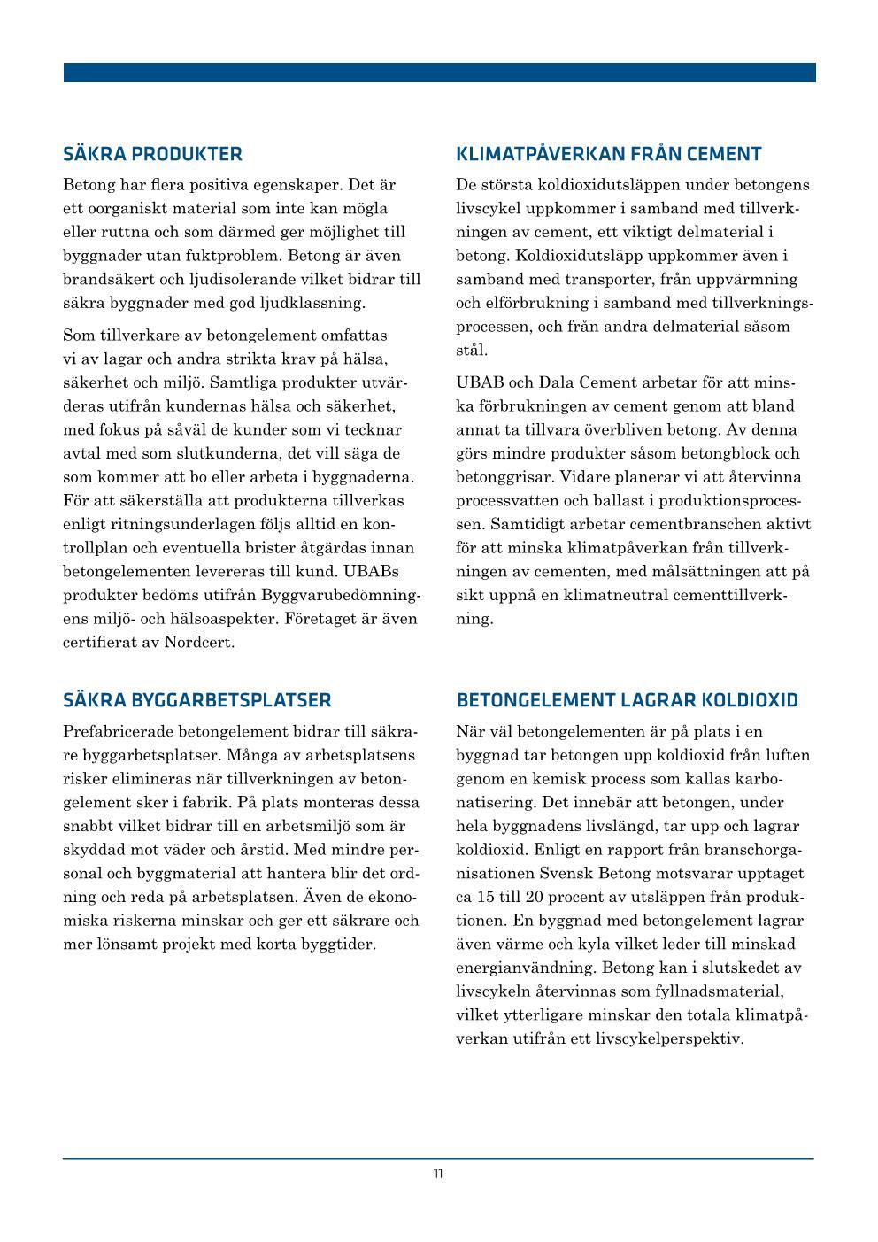 UBAB Hållbarhetsredovisning 2018_webres Sida 011