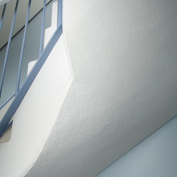 Baksida av trappa kvarter Forsen Hammarby