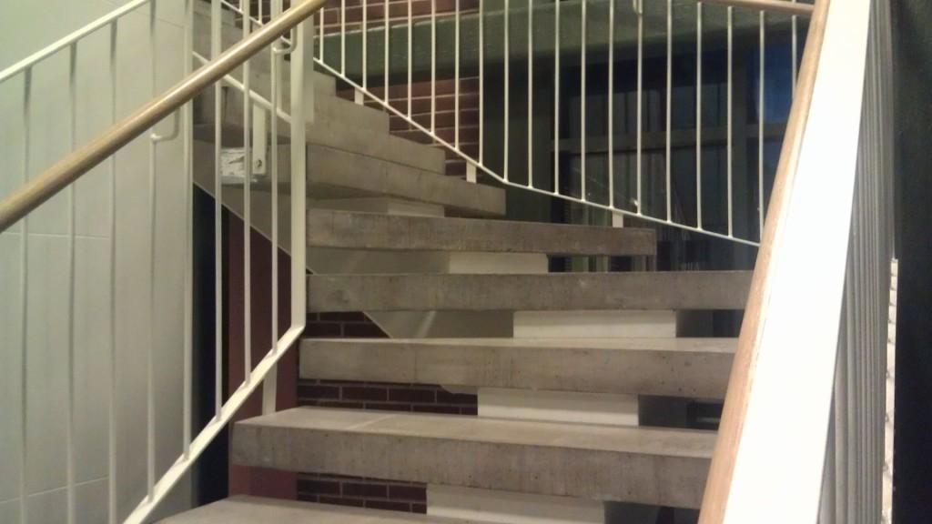 Närbild på trappa i Kungsleden, Norrköping