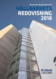 Omslag hållbarhetsredovisning 2018